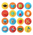 set flat school and education icons set vector image vector image