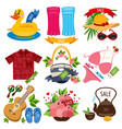 set of of summer vacation resort sale of summer vector image