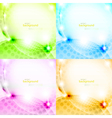 Shiny abstract background set vector image vector image