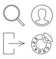 simple set thin line icons vector image vector image