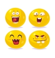 smiles set characters cute cartoons vector image