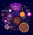 star life cycle vector image vector image