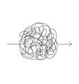 symbol of complicated way chaos pass way arrow vector image