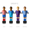 Table football foosball players Group G vector image