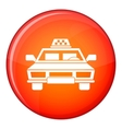 Taxi car icon flat style vector image