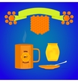 tea with honey vector image vector image