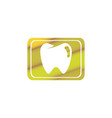 teeth care symbol in rectangle shape vector image vector image