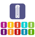 thermometer icons set vector image vector image
