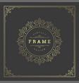 vintage flourishes ornament frame template vector image