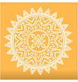 white abstract mandala orange background im vector image vector image