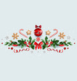 winter festive decorations vector image vector image