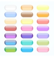 Set of colored web buttons vector image
