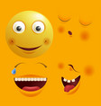 smiley constructor with funny spare faces isolated vector image