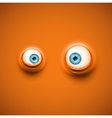 Background with eyes vector image