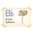 A letter B for balloons vector image vector image