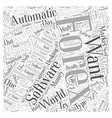 automatic forex trading software Word Cloud vector image vector image