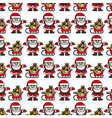 background Santa Claus vector image