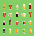 beer mug glass set alcholol drinks vector image vector image