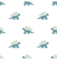 blue dinosaur on a white background vector image vector image