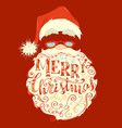 bright festive merry christmas lettering on red vector image vector image