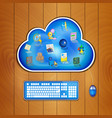 cloud computing solution for business concept vector image vector image