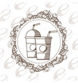 coffee to go cups vector image