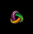 colorful circle spin abstract logo vector image vector image