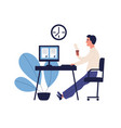 concept good time management productive work vector image vector image