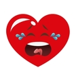 crying heart cartoon icon vector image vector image