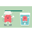 dental retainer cleaning vector image vector image