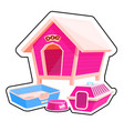 dog house sticker vector image