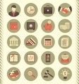 Financial and Business Icons Gray Set vector image vector image