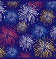 fireworks background pattern vector image vector image