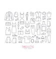 flat clothes icons vector image