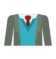 full formal attire with tie vector image