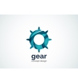 Gear logo template hi-tech digital technology vector image vector image