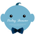 isolated baby shower label vector image vector image