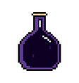 isolated pixelated potion icon vector image