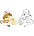 Jerboa chef cuts dough vector image vector image
