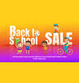 kids back to school sale promotional children vector image