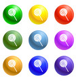 lollipop icons set vector image vector image