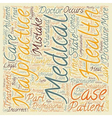 Medical Malpractice Defined text background vector image vector image