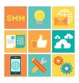 Modern flat icon set vector image