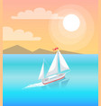 modern yacht marine nautical personal boat icon vector image