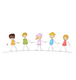multi racial kids vector image