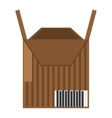 package box carton delivery icon vector image