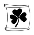 paper with clover or shamrock saint patricks day vector image vector image