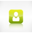 Person icon Application button vector image vector image