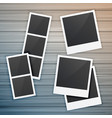photo frames collection on wooden background vector image