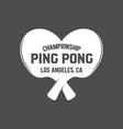ping pong emblems labels badges and designed vector image vector image